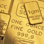 Close-up of Gold Bars
